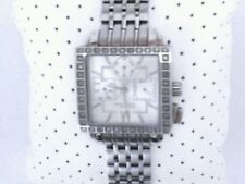ANNE KLEIN Diamond Swiss Accent Stainless Steel Band SRP $650 EXCELLENT