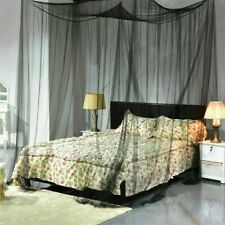 4 Corner Mosquito Net Post Bed Canopy Curtain for Large Queen Size Us Ship