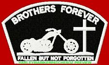 BROTHERS FOREVER MEMORIAL BIKER PATCH