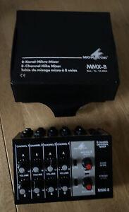 Monacor MMX-8 8-channel Mike Mixer - Box But No Power Lead