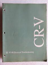 1997-1998 Honda CR-V Factory Service Manual Electrical Wiring Diagram ETM
