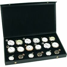 New Pocket Watch Display Case Storage Box For 18 Watches Free Shipping