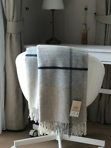 MERINO WOOL BLANKETS WITH CASHMERE, WOOL THROW, SIZE 51 x 71In, ECO, NEW, SOFT