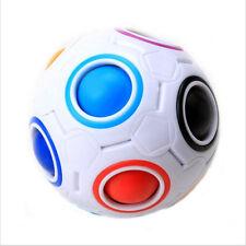 Rainbow Football Ball Kids Spherical Magic Cube Toy Education Puzzle Toys
