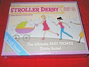 STROLLER DERBY THE ULTIMATE BABY SHOWER TRIVIA GAME, up to 6 TEAMS, NEW