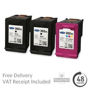 Premium Remanufactured 302XL Black & Colour Ink Cartridges For HP Printers