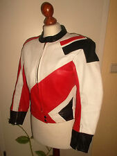 vintage EUROX Motorrad Lederjacke motorcycle leather oldschool jacket 42