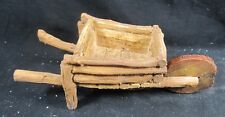 Wheel Barrow Rustic Wood Look from Fairy Garden Collection