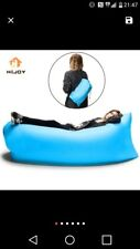 inflatable orange sofa bed for camping or festivals