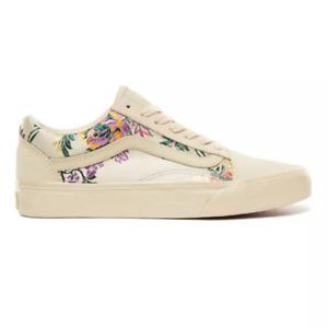 NEW Vans Old Skool Festival Satin Gold Black Classic Shoe Sneaker Womens Size 8