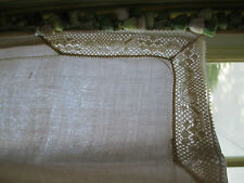 8pc French Pure Linen Lace Embroidery White Dinner Napkin set