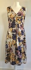 KEW Summer Floral Pastel Flared Dress UK 10