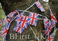 Material Polyester British Union Jack Flag Bunting Banner Double Sided Outdoor