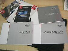 NISSAN QASHQAI OWNERS HANDBOOK 2013-2017 AND WALLET + SAT NAV + service book M51