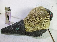 alte große Muschel Muschelhorn Conch Silber 925 Mahakala Buddha Gott Tibet ~1960