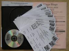 Pub/Club/Charity Bingo Music Game 9 = 50 Cards Using 00's Songs Volume 1. Set 1
