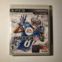 Madden NFL 13 Sony Playstation 3 2012 E-Everyone Complete Tested/Working