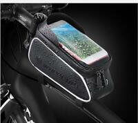 New Cycling Phone Holder Storage Bag Bike Front Tube Frame Bags Waterproof Pouch