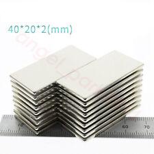 40mm X 20mm X 2mm Block Square Magnets Neodymium Rare Earth Magnets N50