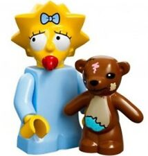 The Simpsons Lego collectible minifig baby Maggie Simpson + teddy bear + dummy