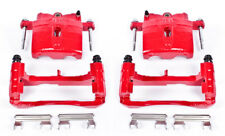 Disc Brake Caliper-Perf Red Powder Coated Calipers with Brackets Rear,Front