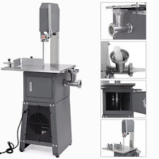 550W Electric Stand Up Butcher Meat Cutting Band Saw + Grinder Sausage Stuffer