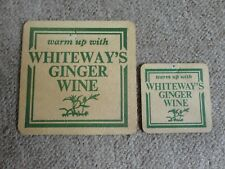 Beer drinks mats drip mats coaster WHITEWAY'S GINGER WINE rare vintage mats mini
