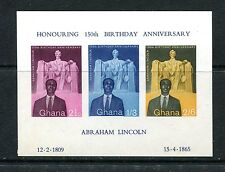 GHANA SOUVENIR SHEETS, SEE DESCRIPTION FOR SCOTT NUMBERS (ID6727)