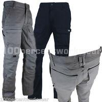 Delta Plus MOPAN Mens Cargo Combat Work Trousers Cotton Rich Knee Pad Pockets