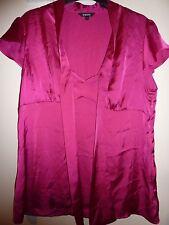 Papaya silky pink shirt. Size 14