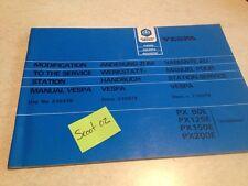 Piaggio vespa PX 80 125 150 200 E additif Manuel atelier revue technique