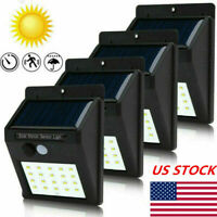 4x 30LED Solar Power Light PIR Motion Sensor Security Outdoor Garden Wall Lamp H