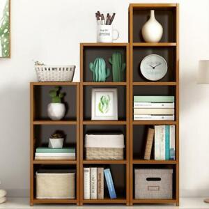 Solid Bamboo Corner Storage Organizer Plan Stand Book Shelf 5/6/7 Tier
