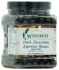 Sugar Free Dark Chocolate Espresso Beans - 1.5 Lb Tub - Free Thermal Protection