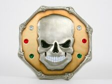 "Geocoin ""Wretched Silver Skull"", 2007, TwoTone, Selten, unaktiviert"