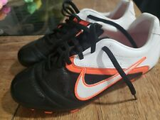 Nike Ctr360 Libretto Ii Fg Black Soccer Cleats Football Boots Size 4.5 Youth