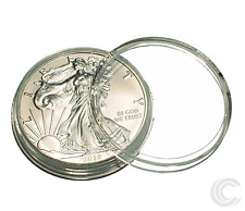 50 x Silver Eagle Coin Holder Capsules Airtite 40.6mm *Ships Free Usa*