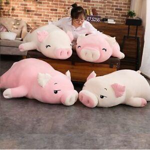 Squishy Pig Stuffed Doll Lying Plush Piggy Toy Animal Soft Plushie Hand 40-75cm