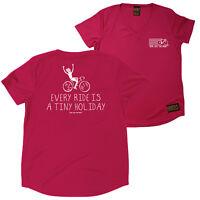 FB Womens Cycling Tee Tiny Holiday Novelty V Neck Dry Fit Performance T-Shirt
