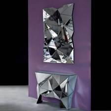 Konsole mit Spiegel Prisma kare Design komplett verspiegelt Kommode mit Spiegel