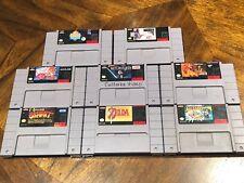 Lot 8 Super Nintendo Game The Legend Of Zelda , Super Mario All Stars And More