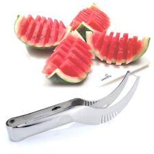 Watermelon Slicer Server Knife Fruit Cutter Corer Scoop Stainless Steel Utensils