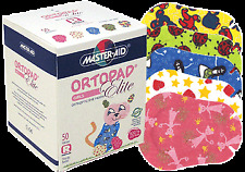 Ortopad Elite Girls Eye Patches - with Glitter Accents, Regular Size (50 Per