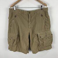 Ralph Lauren Cargo Shorts Mens 38 Beige Heavy Duty Pockets