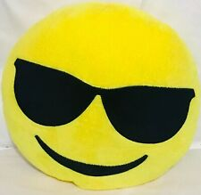 "12"" Emoji Sunglasses Pillow Cushion Plush"