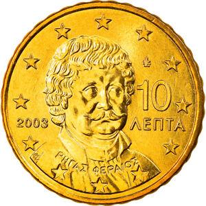 [#819916] Grèce, 10 Euro Cent, 2003, Athènes, FDC, Laiton, KM:184