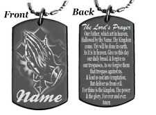 THE LORD'S PRAYER - Dog tag Necklace or Key chain with FREE ENGRAVING