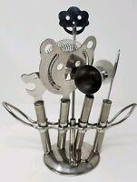 Godinger Silver Art Co. Ltd. Stainless Steel 5PC Bar Tool Set & Stand