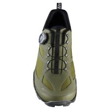 New Shimano MT7 Men's Trekking Casual Off-Road Bike Shoes - Olive Green Size 43