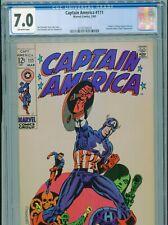 1969 MARVEL CAPTAIN AMERICA #111 JIM STERANKO CLASSIC COVER CGC 7.0 OW